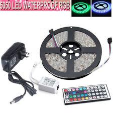 Waterproof 5M 5050 SMD RGB 300 LED Flexible Strip Light+44KEY IR+Power Full Kit