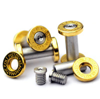 Brass & 416 Stainless Steel DIY Knife Handle Screw Rivet Handle Fastening Nut