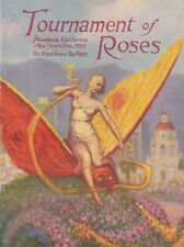 1933 TOURNAMENT OF ROSES PROGRAM PLUS EXTENSIVE USC-PITTSBURGH GAME COVERAGE