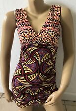 BISOU BISOU Michele Bohbut Womens Size Small Sleeveless Tribal Tank Top Shirt