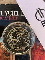 BELGIQUE 2020 2 EURO COMMÉMORATIVE JAN VAN EYCK BELGIUM UNC BELGIEN БЕЛЬГИЯ