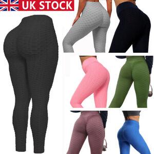 Womens Anti-Cellulite Yoga Pants Push Up TikTok Leggings Honeycomb Sports Trouse