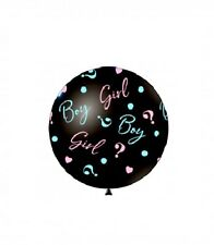 PALLONE MONGOLFIERA BABY SHOWER 83 CM nero boy or girl