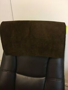 Recliner Head Rest Cover Suede faux Chocolate brown 30x30 Sofa Love seat Chaise
