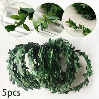 7.5m Artificial Green Rattan Plants Ivy Vines Leaf Garland Fake Foliage Flowers
