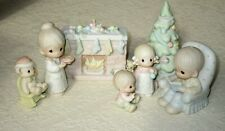 Precious Moments The Family Xmas Scene Complete Set 7 Addition Figurines w Boxes