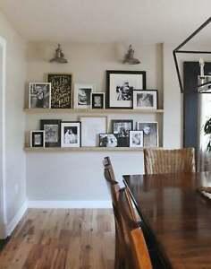 Solid Wood Picture Shelves - Picture Shelf Ledge - Various Sizes & Colours