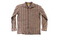 Men's Mountain Hardwear Long Sleeve Button Down Plaid Shirt Size Large L Brown