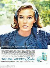 PUBLICITE ADVERTISING 106  1964   Revlon  maquillage Natural Wonder fons teint
