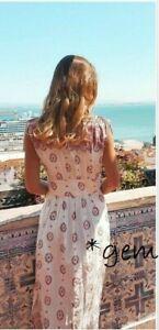 ZARA MAXIKLEID KLEID TUNIKA STICKEREI PAISLEY PRINT LONG EMBROIDERED DRESS TUNIC