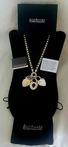 JOAN RIVERS CLASSIC COLLECTION INTERCHANGEABLE HEART PENDANT NECKLACE W/ORIG BOX