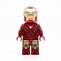 ⎡DRAGON BRICK ⎦Custom Iron Man Tony Stark Armor Mark 16 Lego Minifigure
