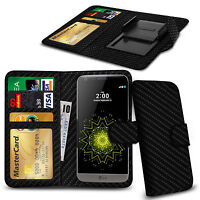 Clip On PU Leather Flip Wallet Book Case Cover For LG Tribute 2