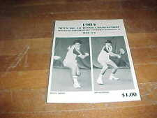 1984 Men's Big 10 Championship Tennis Program Hosted by Northwestern University