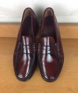 Diplomats Mens Size 9.5 E Burgundy Leather Moc Toe Loafer Dress Shoes JK58219.