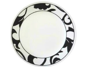 *NEW Corelle NOIR MUSE 8 1/2 LUNCH PLATE Luncheon *Choose: BLACK or GREY Scrolls