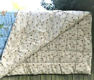Realtree Blue Camo Twin Comforter By Kimlor Mills Padded Blue & Tan Reversible