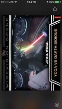 Topps Star Wars Digital Card Trader Yoda Vs. Darth Sidious Widevision Insert