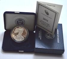 2011-W 1 Oz Fine Silver Proof US Coin American Silver Eagle Dollar w/CoA in BOX!