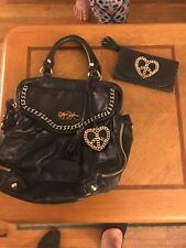 Betsey Johnson Leather Purse/Handbag + Matching Wallet great condition rare int.