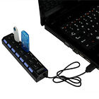7-Port USB 2.0 Multi Charger Hub +High Speed Adapter ON/OFF Switch Laptop/PC