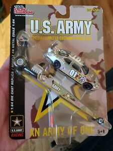2003 1/64 US ARMY LIMITED EDITION 2 PIECE NHRA DRAGSTER AND NASCAR PONTIAC