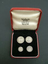 More details for uk gb elizabeth ii. 1955 silver (.925) maundy set . box. ef cond. 66th birthday