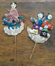 Early 20th Cent Chinese Folk Art Applicate work, Immortals/ fairy Tales Figures