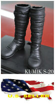 ❶❶1/6 kumik shoes Black Widow Catwoman women black long Boot SHIP FROM US❶❶