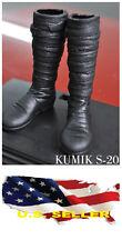 ❶❶1/6 kumik shoes Black Widow Catwoman women black long Boot SHIP FROM US❶❶