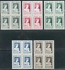 BELGIE 863/867 Koningin Elisabeth ** postfris blok van vier
