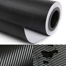 "12x50"" Black Carbon Fiber Vinyl Film Wrap Car DIY Sticker 3D Bubble Free 30x127"