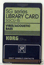 Korg Vibes and Acoustic Bass ROM Memory Card for SG-1 Sampling Grand, SGCU-15