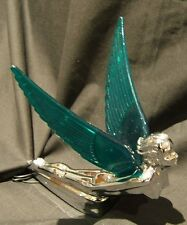 FLYING GODDESS WITH GREEN LIGHT UP WINGS CAR OR TRUCK BONNET MASCOT