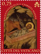 2011 Vaticano Natale - adesivo da libretto MNH