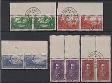 """MONACO STAMP N° 135 / 139 """" SERIE JARDINS LOUIS II EN PAIRE"""" OBLITERES TTB  N294"""