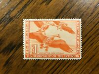 RW 11 1944 $1.00 White-Fronted Geese Duck Stamp, Mint Never Hinged