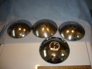 1949 49 1950 50 Kaiser Kaizer Hubcaps   Lug Covers  lot of 4 free shipping