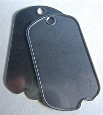 DOG TAGS VINTAGE NOTCHED US GENUINE ISSUE CUSTOM DEBOSSED YOUR INFO W/GI MACHINE