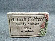 "All God'S Children ""1991 Family Reunion"" Plaque"