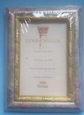 "Estate Vintage CONNOISSEUR 6 1/4"" x 8 1/4"" Rose & Gold Print Photo Frame - New"