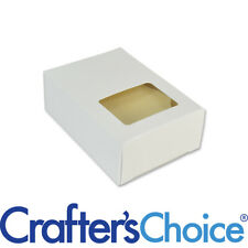50 Crafter's Choice White w/ Rectangle Window Soap Box - Homemade Soap Packaging