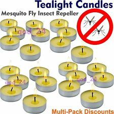 Citronella Tea Lights Scented Fragrance Garden Wax Candles Tealight Home Outdoor