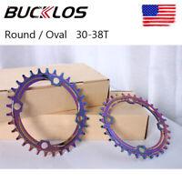 30-38T Colorful Single Chainring 104bcd Narrow Wide MTB Bike Crankset Chainwheel