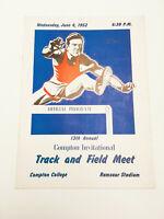 Rare Authentic 1952 13th Annual Compton Invitational Track Program Booklet