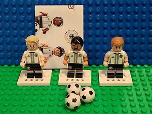 Lego 71014 DFB Germany Football Team Lot of 3 Soccer Minifigures CMF #'s 6 9 18