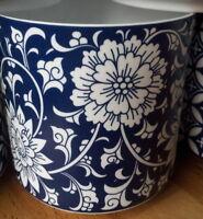 Windlicht Porzellan Weiß Blau Floral Blumen Landhaus Ornament Muster Blüten