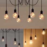Vintage Pendant Ceiling Shade Industrial Chandelier Light Retro Spider Lamp UK