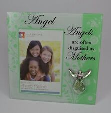 """Angels are often disguised as Mothers Glass Picture 4x6 Photo Picture 8""""h #298"""