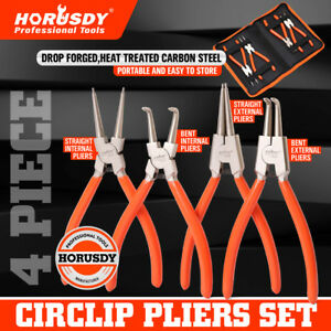 "4pc 7"" Circlip Plier Snap Ring Pliers Portable Internal External Retaining Clip"